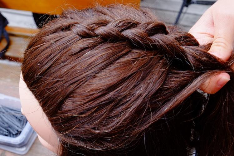 Haare zopf oben