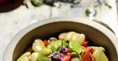 Rezept | Salat aus frischen dicken Bohnen