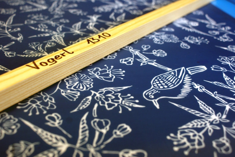 Handdruckerei Gistl | Vogelmuster