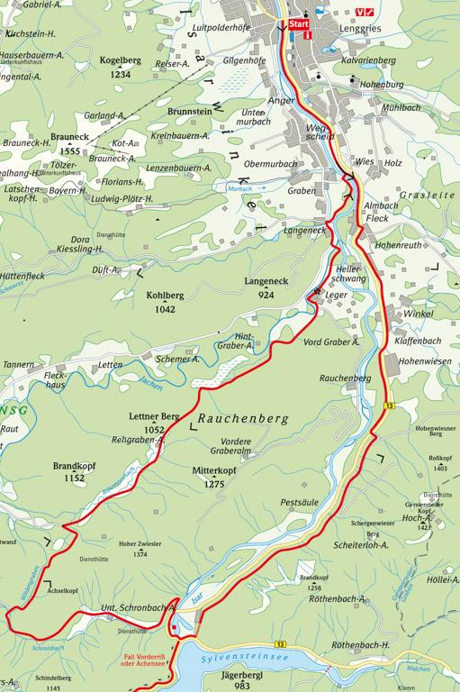 Radtour Sylvensteinspeicher